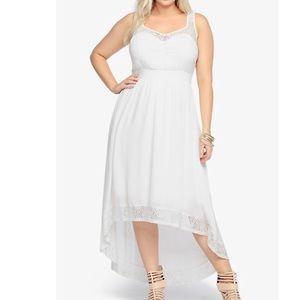 Torrid Lace Inset High Low Maxi Dress